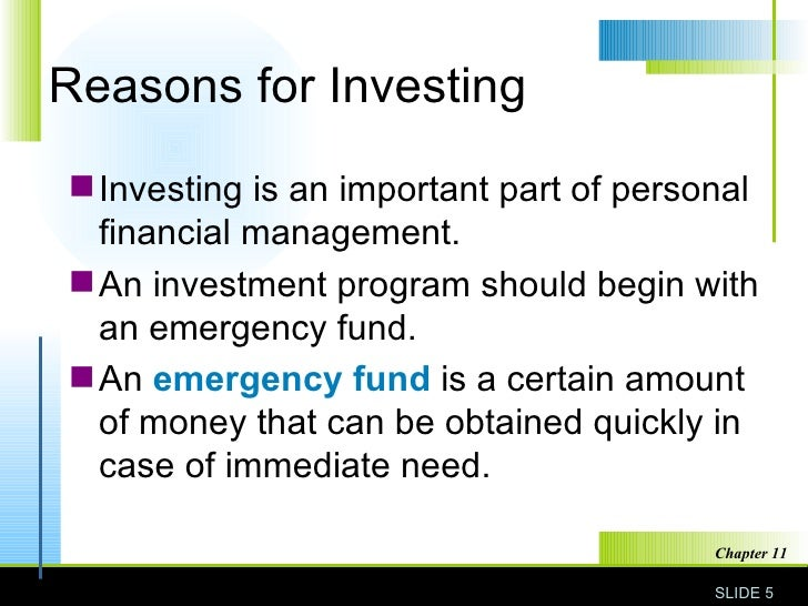 essentials of investment chapter 11 Chapter 11 investment planning case study alice and robert reed are in their late fifties and anticipate retirement and financial independence in five years robert, a real estate entrepreneur for .