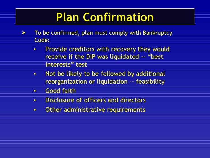 Chapter 11 liquidating plan