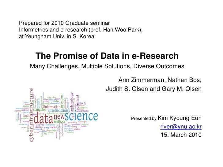 Prepared for 2010 Graduate seminarInformetrics and e-research (prof. Han Woo Park),at Yeungnam Univ. in S. Korea<br />The ...