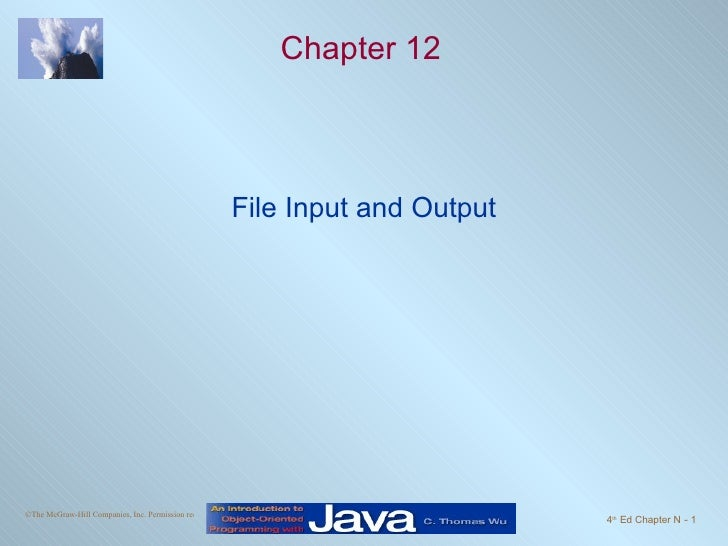 Chapter 12 File Input and Output