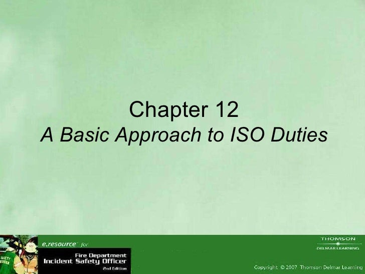 Chapter 12 A Basic Approach to ISO Duties