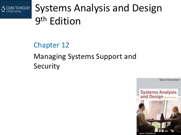 Systems Analysis and Design9th EditionChapter 12Managing Systems Support andSecurity