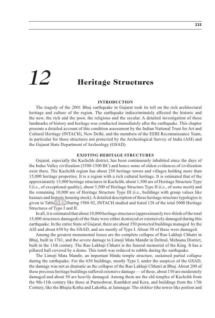 225     12                           Heritage Structures                                          INTRODUCTION     The tra...