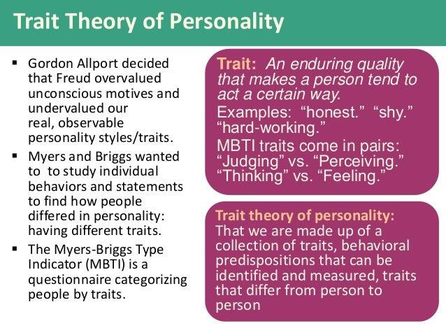 Trait vs Psychodynamic
