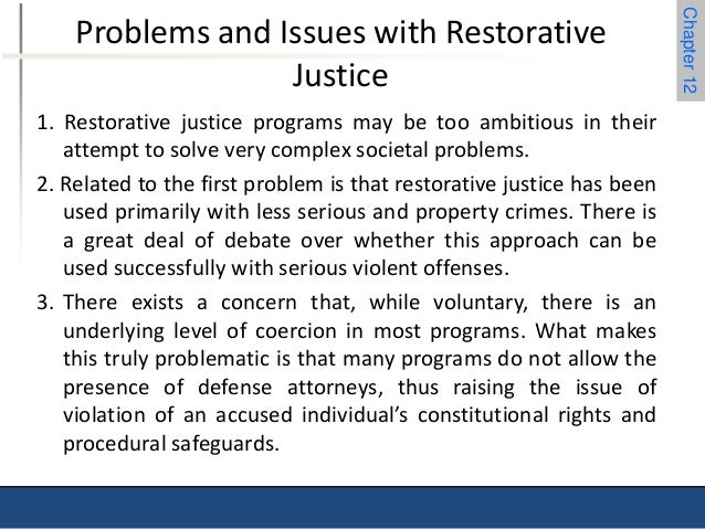 chapter  23 chapter 12 problems and issues restorative justice