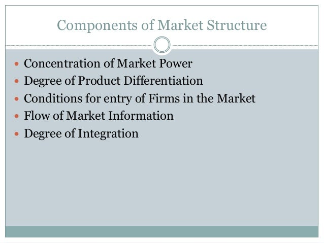 agricultural market structure