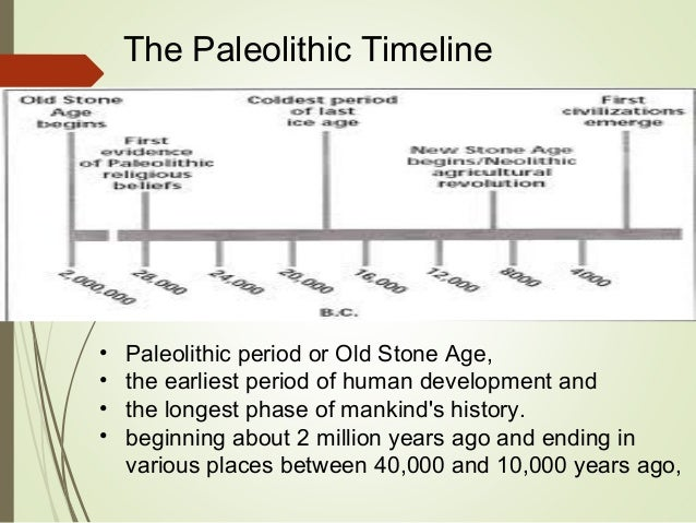 Paleolithic Age Timeline Introduction & The...