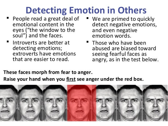 People Are Especially Good At Quickly Detecting Facial Expressions Of