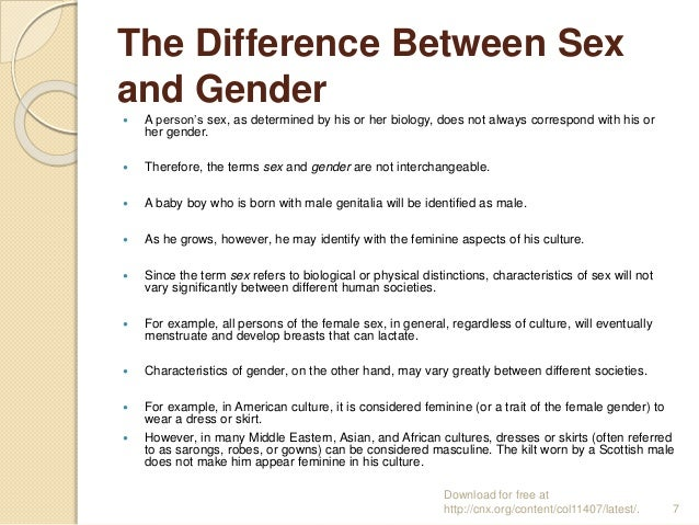 The difference between gender and sexuality