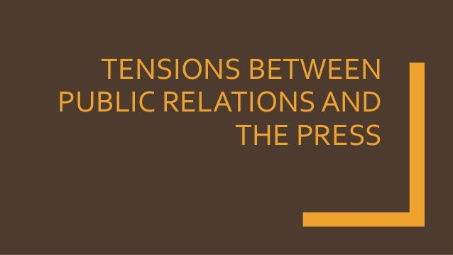 Spot the Difference: Public Relations and Journalism