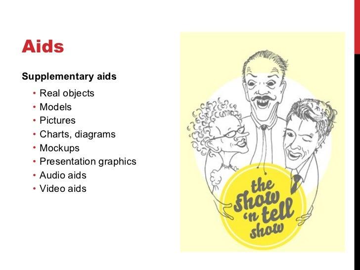 Aids <ul><li>Supplementary aids </li></ul><ul><ul><li>Real objects </li></ul></ul><ul><ul><li>Models </li></ul></ul><ul><u...