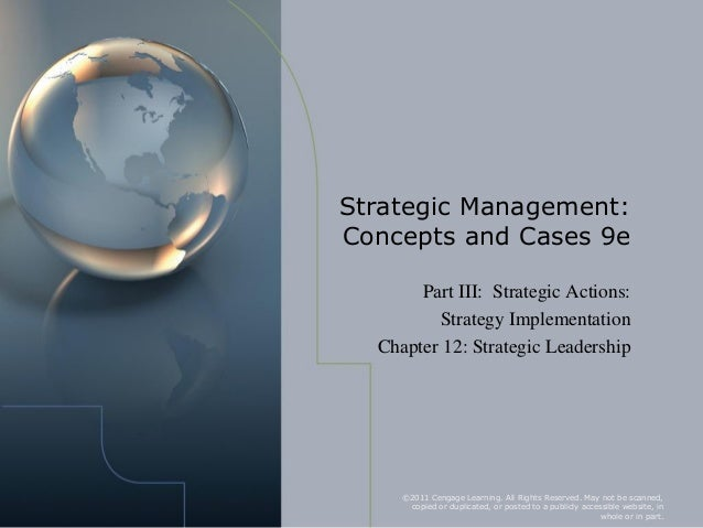 strategic management text and cases chapter Fascinating insights into modern strategic management from an islamic perspective while strategic management is a cornerstone of any mba program, it's almost always taught from conventional theories and typically american case studies.