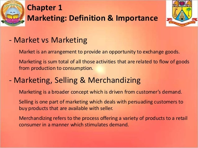 an analysis of the concepts of the marketing definitions Another reason for conceiving a product concept and then terminating  market  research with the various survey methods is often somewhat  it means verbal ( or other) presentation of principal new properties.