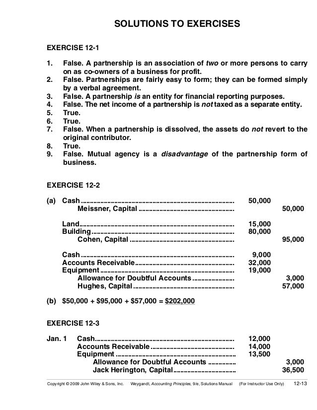 Chapter 12 accounting for partnerships