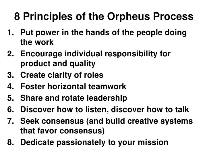 rotating leaders orpheus orchestra Charity navigator's historical ratings for orpheus chamber orchestra  central to its distinctive personality is its practice of sharing and rotating leadership.