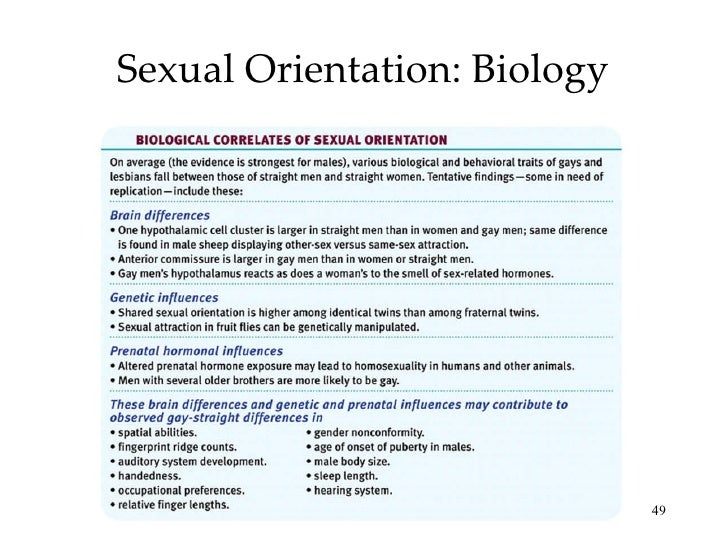 Sexual orientation ap psychology myers