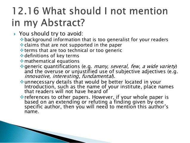 writing good abstract research paper