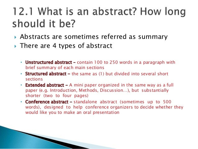 how to write abstracts of research paper In scientific writing, an abstract is a concise summary of a paper how to write a psychology research paper article how do you reference electronic sources in.