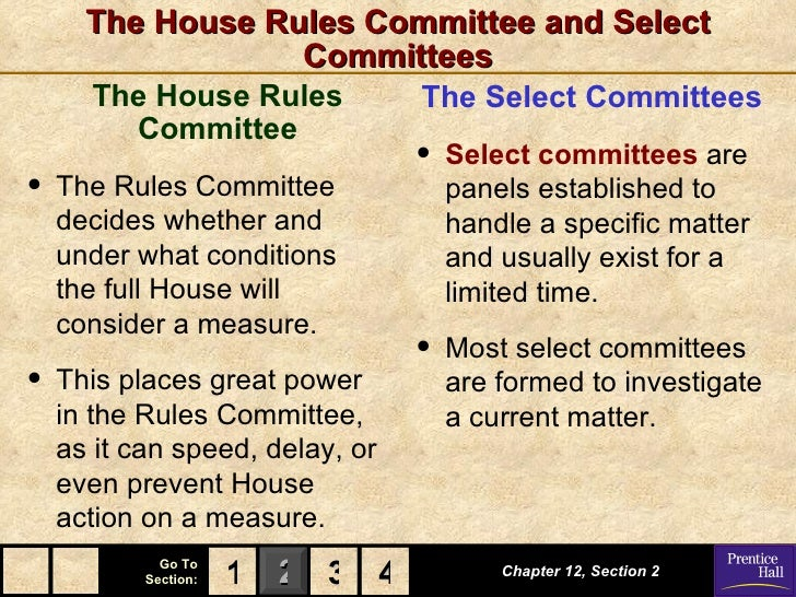 ... 13. The House Rules Committee ...