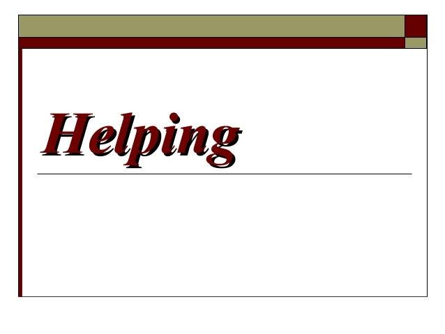 HelpingHelping