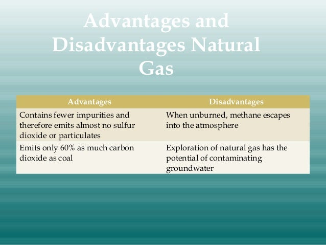 Advantages Of Natural Gas >> Nonrenewable Energy Resources