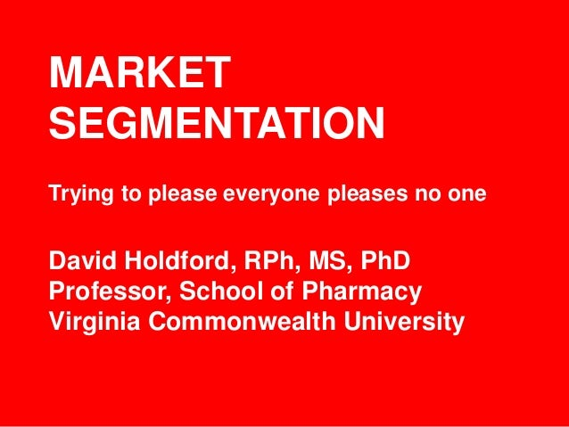 Market segmentation strategy university