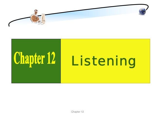 ListeningChapter 12