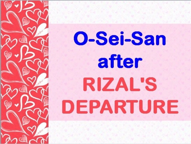 rizal s romantic interlude with japan Paseo rizal: pilgrimage's restaurant - see 47 traveler reviews, 86 candid photos, and great deals for tanay romantic interlude with arts & nature.