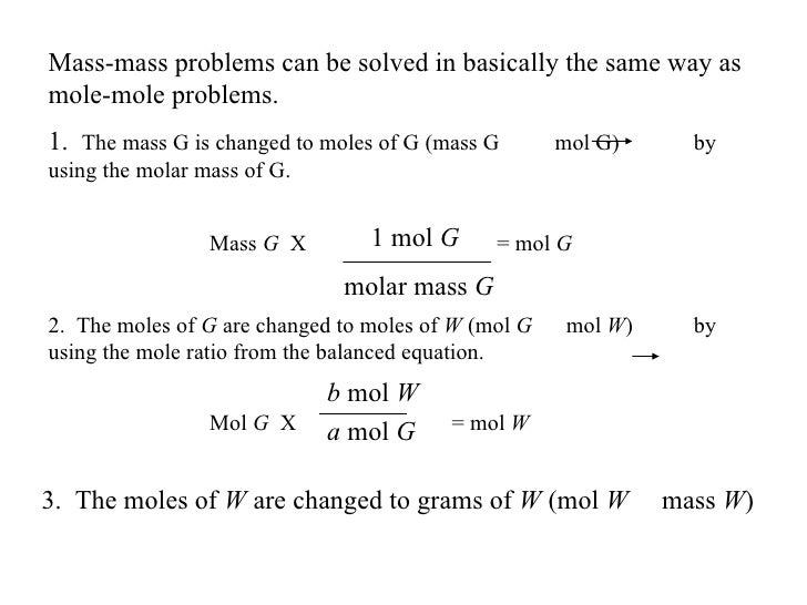 Chapter 12 Stoichiometry – Worksheet Mole Problems
