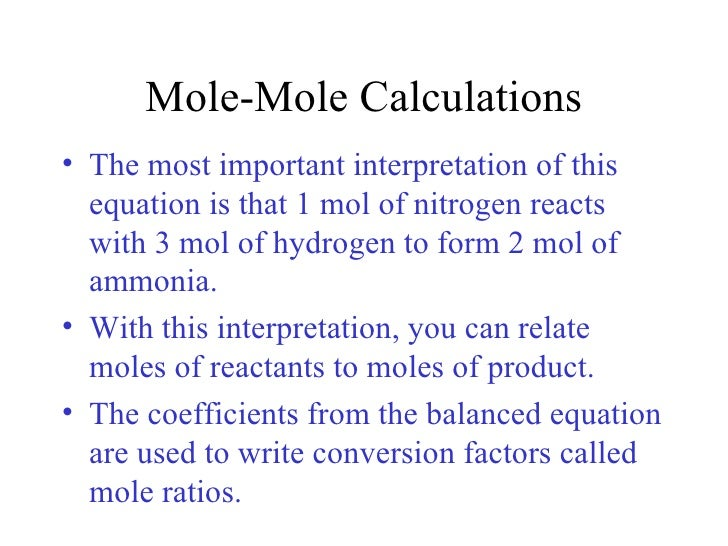 determining the mole ratios in a chemical reaction essay Purpose: the purpose of this lab is to determine the mole ratio of the reactants sodium hypochlorite (naclo) and sodium thiosulfate (na2s2o3)when reacted in a chemical reaction.