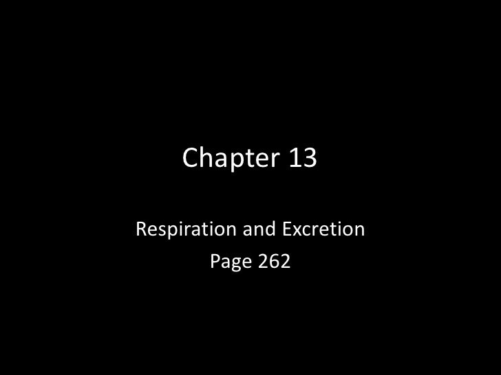 Chapter 13 <br />Respiration and Excretion<br />Page 262<br />
