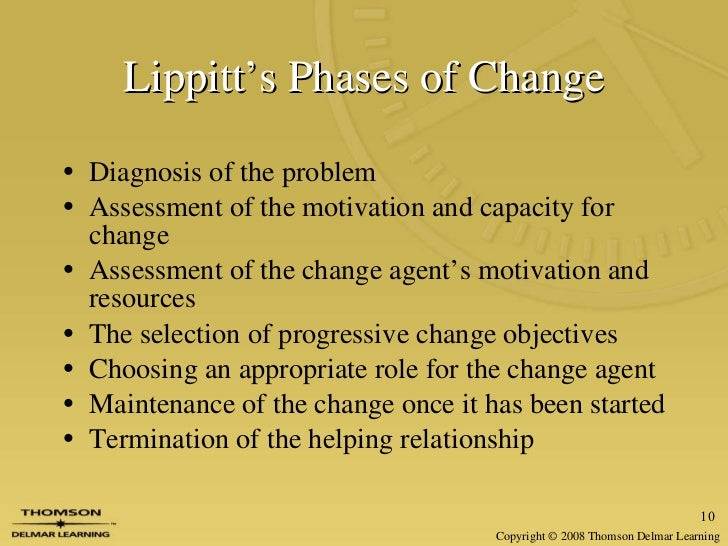 Thesis: Lippitt's Phases of Change Theory