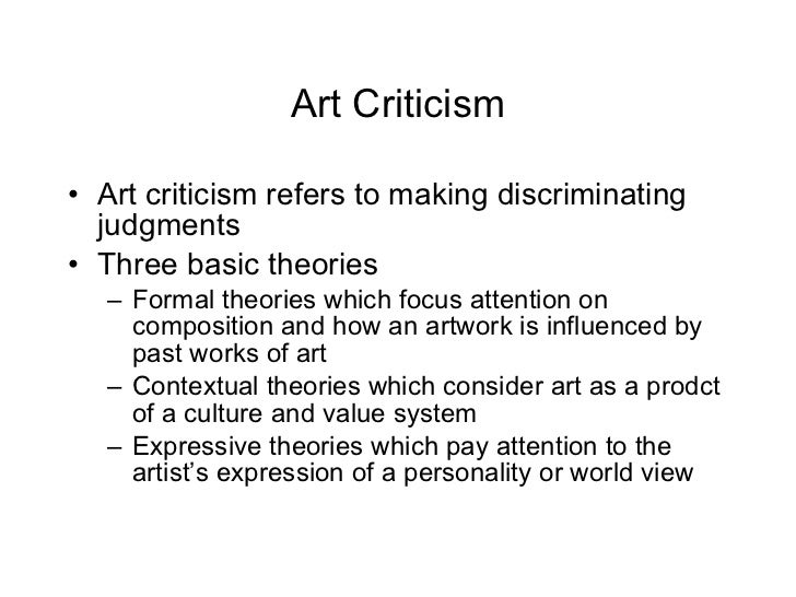 art appreciation art critique Art evaluation: how to appreciate art  let us again re-emphasize that the whole point of art appreciation is to explain why we like or dislike something,.