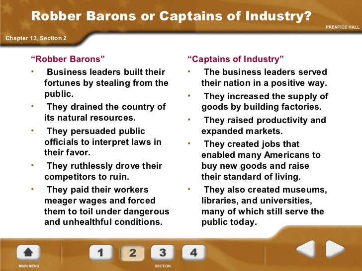 robber barons captains industry dbq Below is an essay on robber baron dbq from anti essays, your source for research papers, essays captains of industry or robber barons.