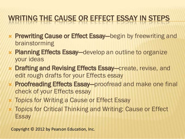 topics to write a cause and effect essay on