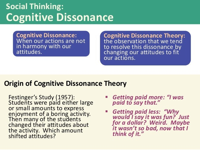 an analysis of the theory of cognitive dissonance This paper takes a first step toward incorporating and operationalizing cognitive dissonance theory this essay applies cognitive-critical biblical analysis.