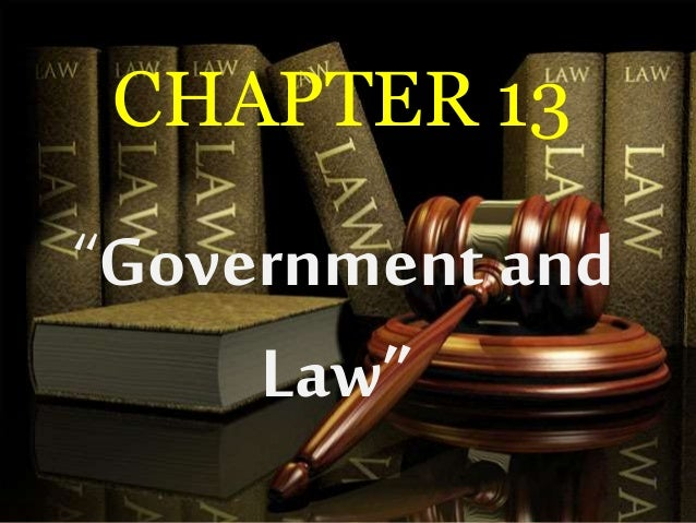 """CHAPTER 13 """"Government and Law"""""""