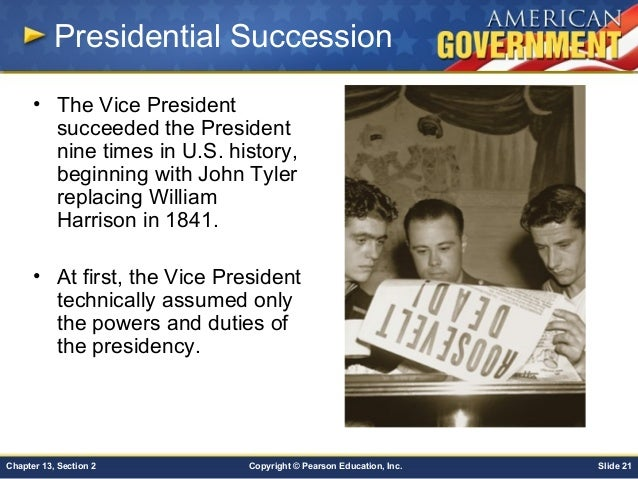 an introduction to presidential succession Introduction presidential disability and presidential succession robert e gilbert edward w brooke professor department of political science northeastern university.