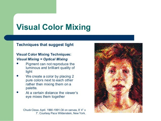 Image result for optical color mixing examples