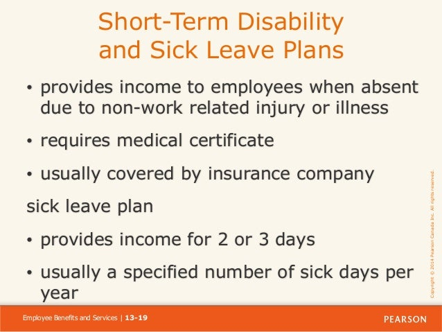 Chapter 13 dessler 12 ce ppt ch13 - Short term disability plan design ...