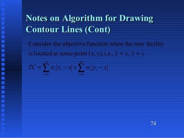 Contour Line Drawing Algorithm : Chapter heragu