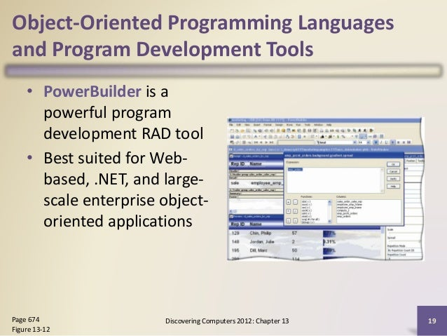 Chapter 13 programming languages and program development – Powerbuilder Programmer