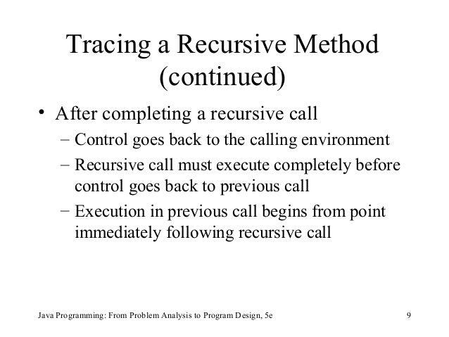 Chapter 13 - Recursion