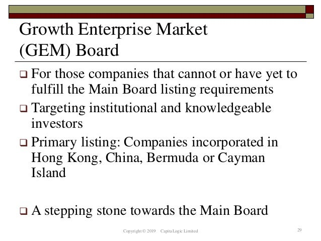 Chapter 13 the hk ex and listed companies