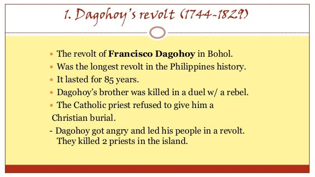 filipino revolts against spaniards