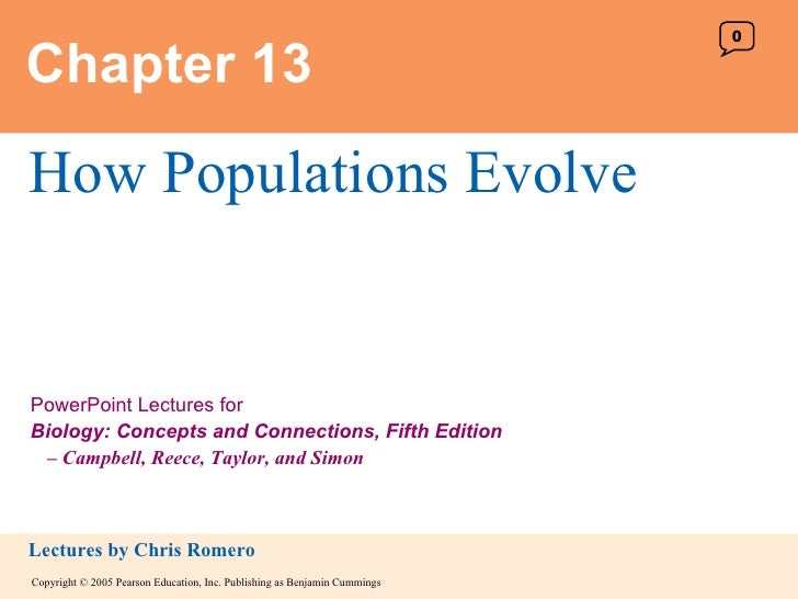 Chapter 13 How Populations Evolve 0