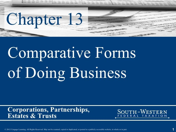 Chapter 13 Comparative Forms of Doing Business