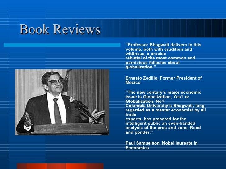 """In Defense of Globalization"" Jagdish Bhagwati Essay Sample"