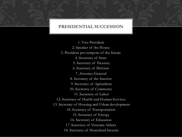 • It assigns the position two duties: (1) to preside over the Senate and (2) to help decide the question of presidential d...