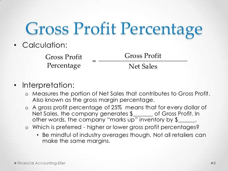 how to get net sales for gross profit margin
